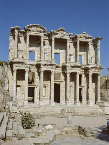 Reconstructed Library of Celsus, Archaeological Site, Ephesus, Anatolia, Turkey Photographic Print