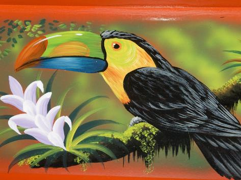 The Crafts Town of Sarchi Famous for Its Decorative Painting and Ox Carts, Costa Rica Photographic Print
