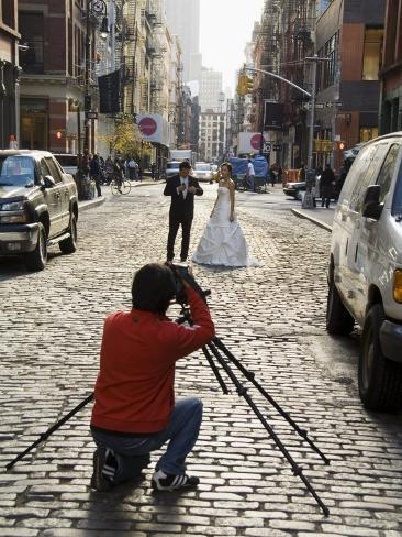 Wedding Photo Shoot in Soho, Manhattan, New York City, New York, USA Photographic Print