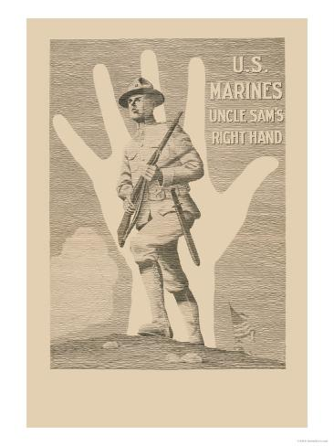 U.S. Marines, Uncle Sam's Right Hand Stampa artistica