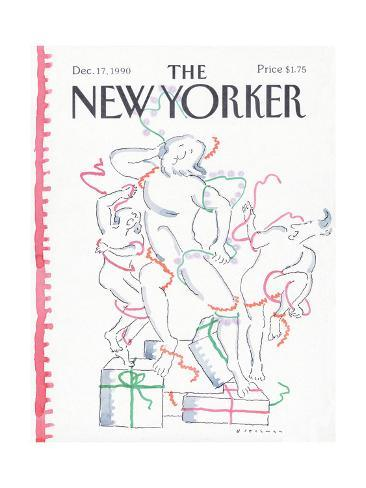 The New Yorker Cover - December 17, 1990 Premium Giclee Print