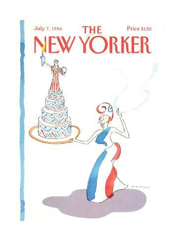 The New Yorker Cover - July 7, 1986 Premium-giclée-vedos