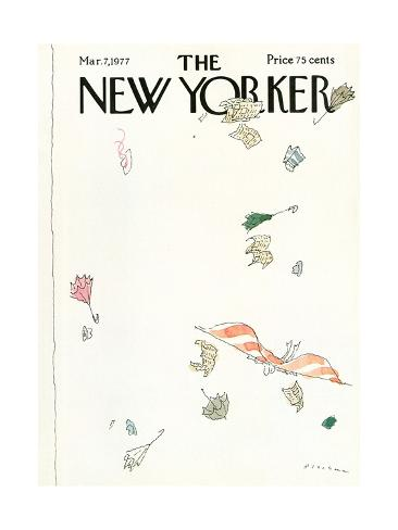 The New Yorker Cover - March 7, 1977 Premium Giclee Print