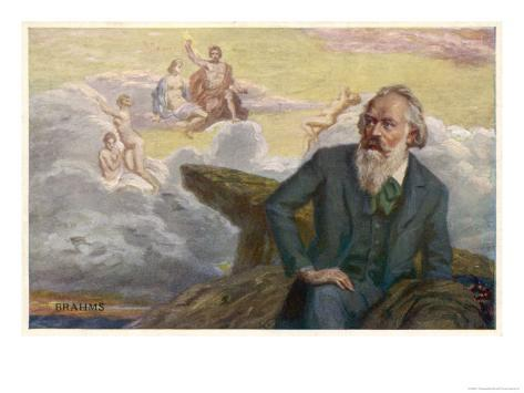 Johannes Brahms German Musician Composing His Symphony No. 1 Giclee Print