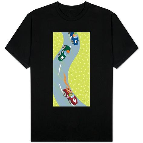 Race Car Drivers on Winding Road T-Shirt