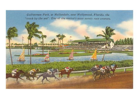 Race Track, Hollywood, Florida Art Print