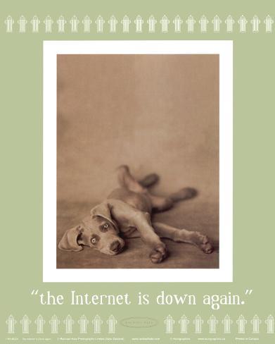 Internet is Down Again Framed Art Print
