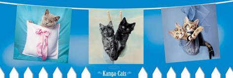 Kanga Cats Stretched Canvas Print