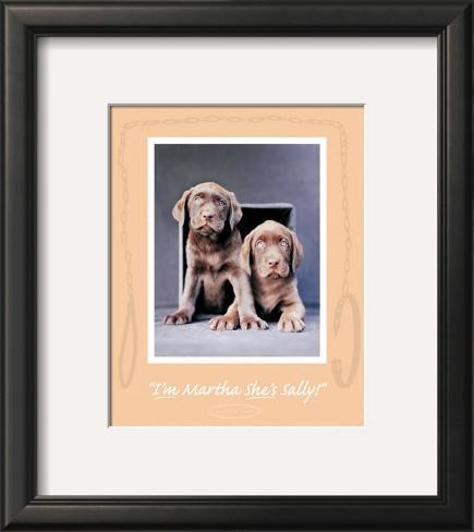 Martha and Sally Framed Art Print
