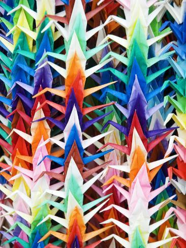 Colourful Paper Cranes at Fushimi Inari Shrine Photographic Print