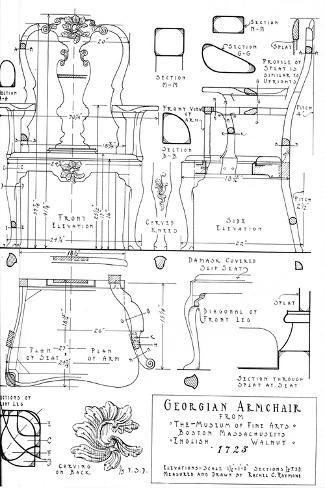 Georgian Armchair, 1922 Giclee Print