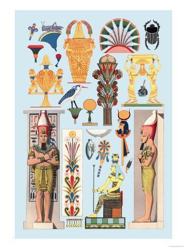 Egyptian Design Stampa artistica