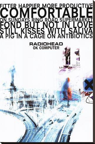 Radiohead Stretched Canvas Print