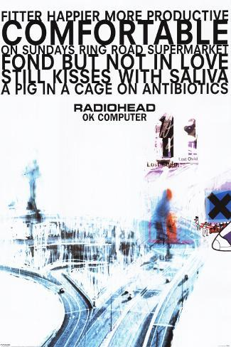 Radiohead Mounted Print