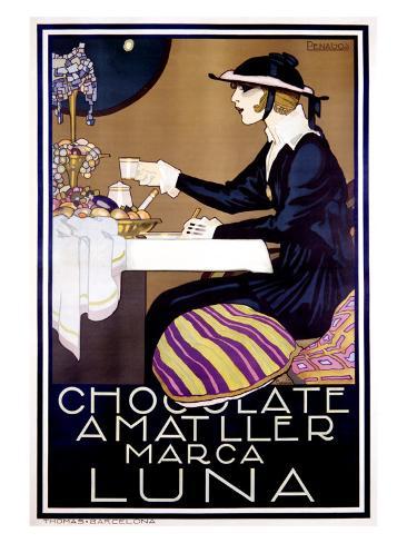 Chocolate Amatller, Luna Giclee Print