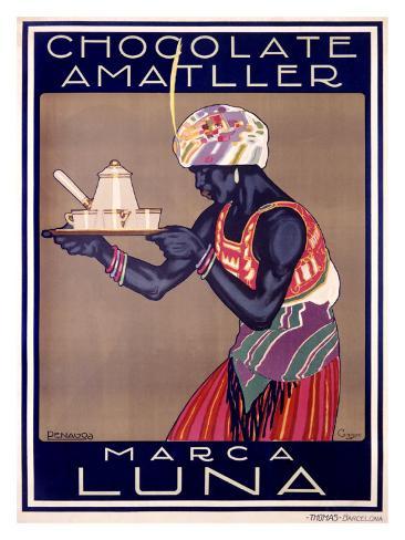 Chocolate Amatller, Marca Luna Giclee Print