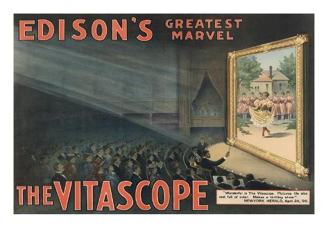 Edison's Greatest Marvel--The Vitascope Art Print