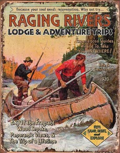 Raging Rivers Trips Tin Sign