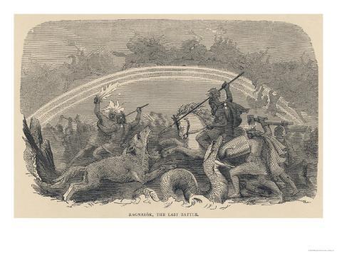 Ragnarok the Last Battle Giclee Print