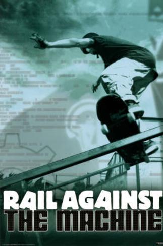 Rail Against the Machine Skateborading Sports Poster Print Poster