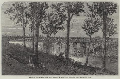 Railway Bridge over the River Bremer, Queensland, Australia Giclee Print
