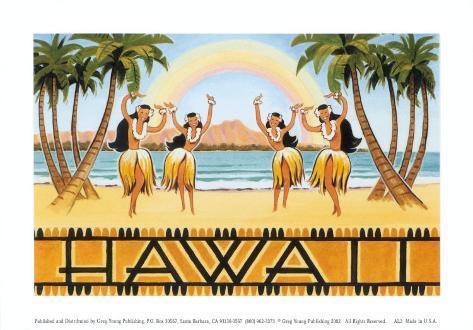 Rainbow Hawaii Art Print