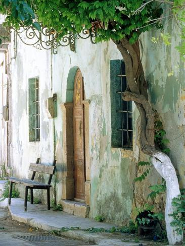 House in the village Vessa on Chios, Greece Photographic Print