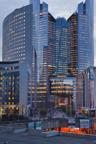 France, Paris, La Defense, High Rises Photographic Print