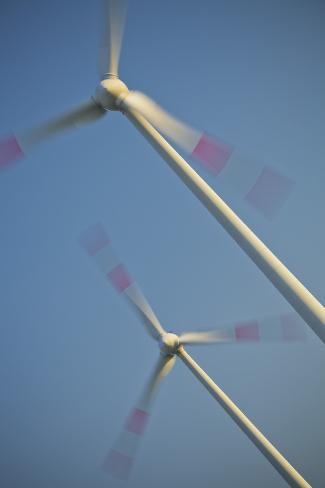 Germany, Two Wind Turbines Photographic Print