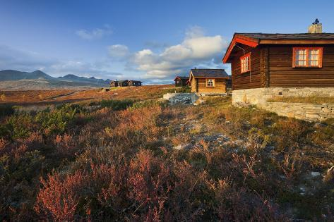 Norway, Rondane National Park, Huts Photographic Print