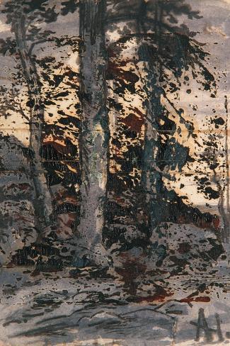 Winter Landscape, 1901-15 Stampa giclée