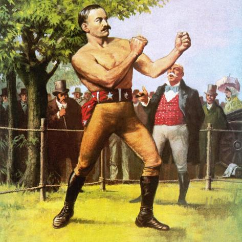 King of the Bare-Knuckle Boxers: John L Sullivan Giclee Print