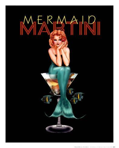 Mermaid Martini Posters by Ralph Burch - AllPosters.co.uk