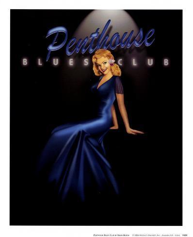Penthouse Blues Club Art Print