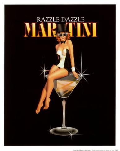 Razzle Dazzle Martini Art Print