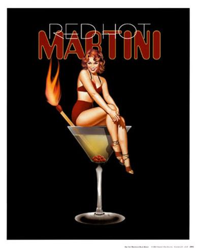 Red Hot Martini Art Print