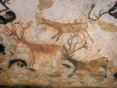 20,000 Year Old Lascaux Cave Painting Done by Cro-Magnon Man in the Dordogne Region, France Photographic Print