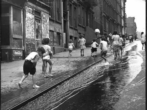 Children Playing on 103rd Street in Puerto Rican Community in Harlem Photographic Print