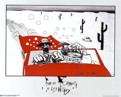 Ralph Steadman (Fear and Loathing in Las Vegas) Art Poster Print Mini Poster