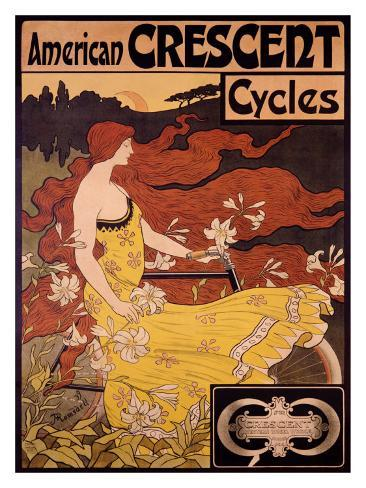 American Crescent Cycles Giclee Print