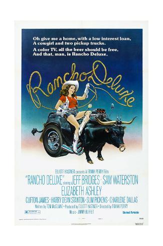 Rancho Deluxe, US poster, Elizabeth Ashley, 1975 Art Print