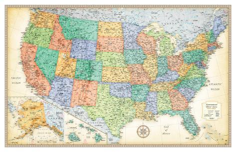 Rand Mcnally Classic United States Map Print AllPostersca