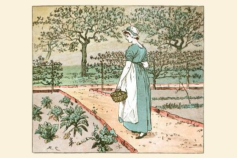 Great Panjandrum Himself; a Girl Goes into the Garden to Cut a Cabbage Leaf to Make an Apple Pie Lámina