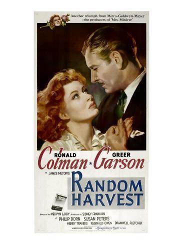 Random Harvest, Greer Garson, Ronald Colman, 1942 Photo
