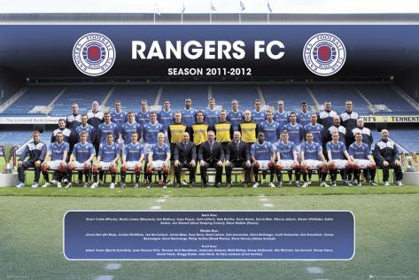 Rangers-Team Photp 2011-2012 Poster