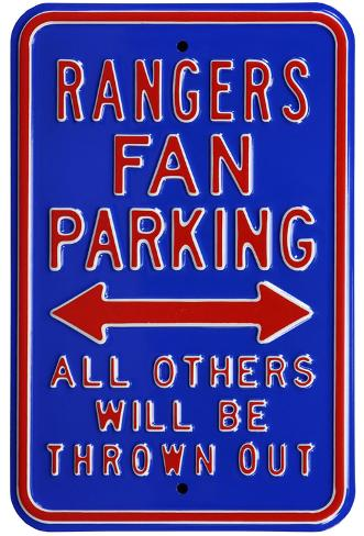 Rangers Thrown Out Parking Steel Sign Wall Sign