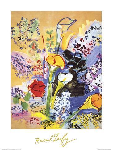 Bouquet d'Arums Art Print