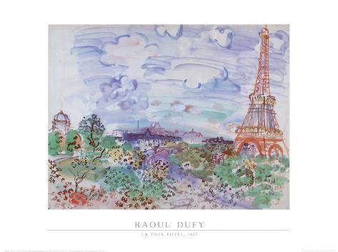 La Tour Eiffel, 1935 Art Print