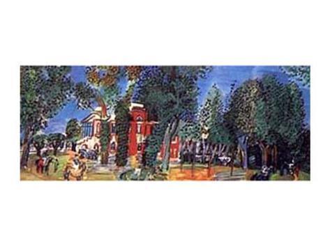Paddock at Deauville Art Print