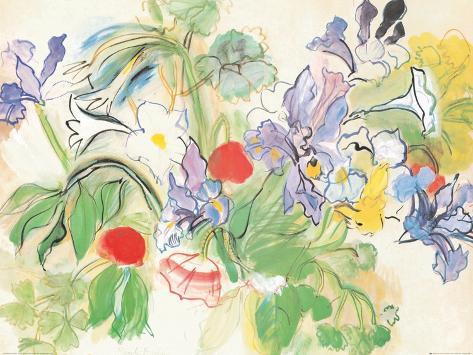 Poppies and Iris Art Print